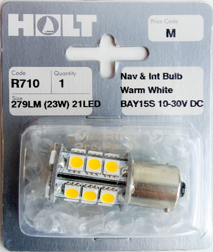 Holt BAY15S / BAY15D Warm White Navigation and Interior 21 LED Bulb